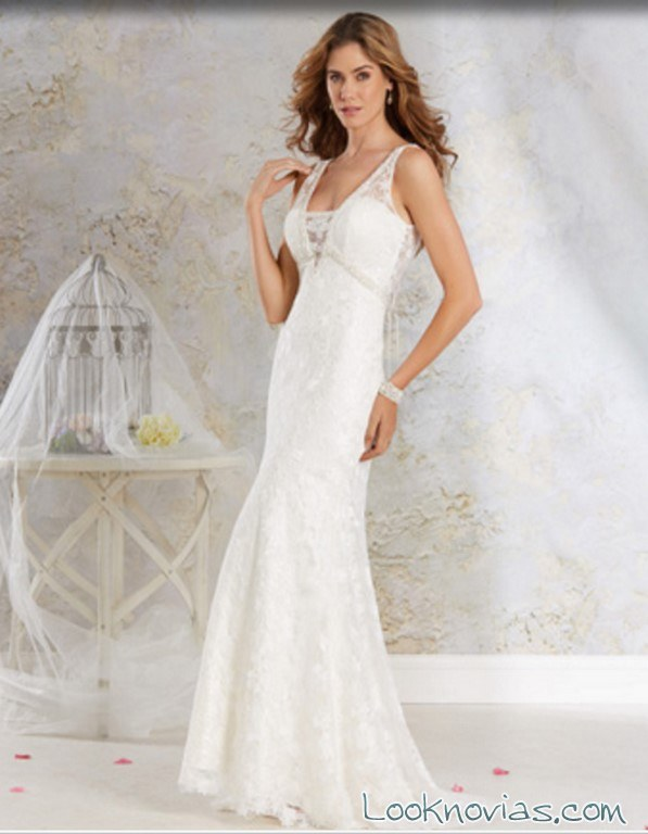 vestido novias recto alfred angelo