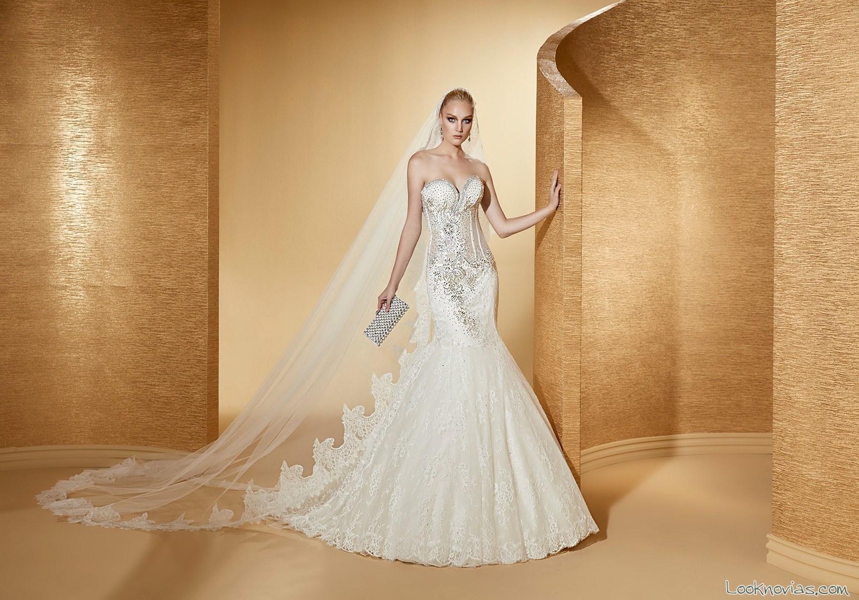 vestido novias sirena 2017 nicole spose romance