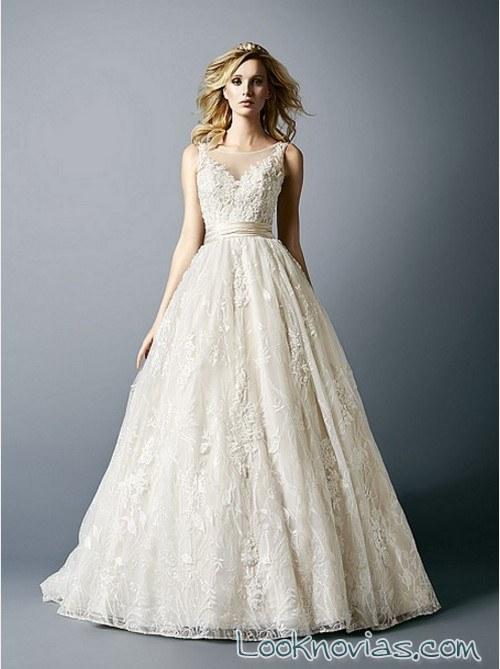 vestido novias val stefani con volumen