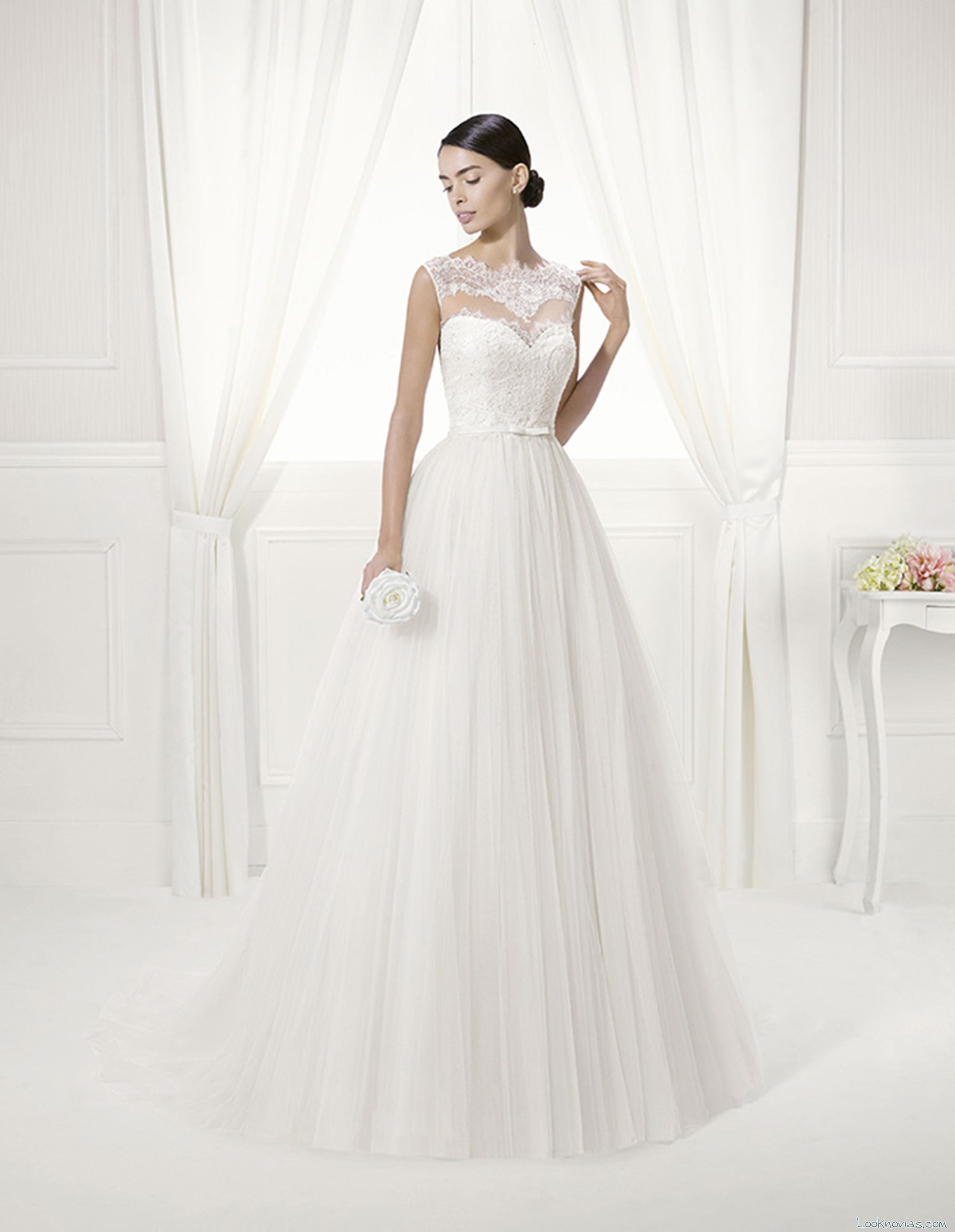 vestido novias volumen alma novia