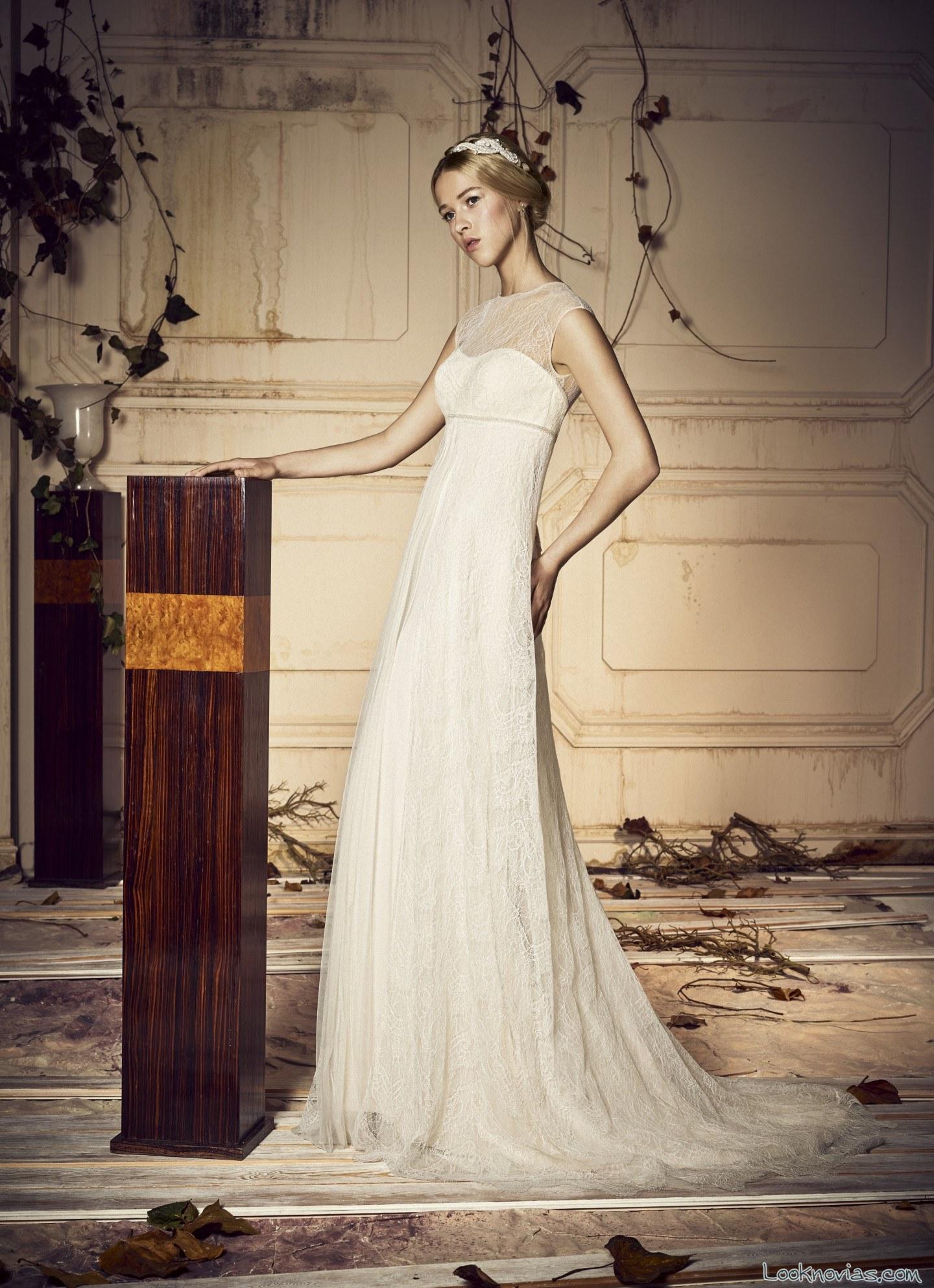 vestido novias whiteday corte griego