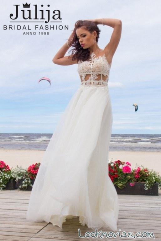 vestido original calado blanco