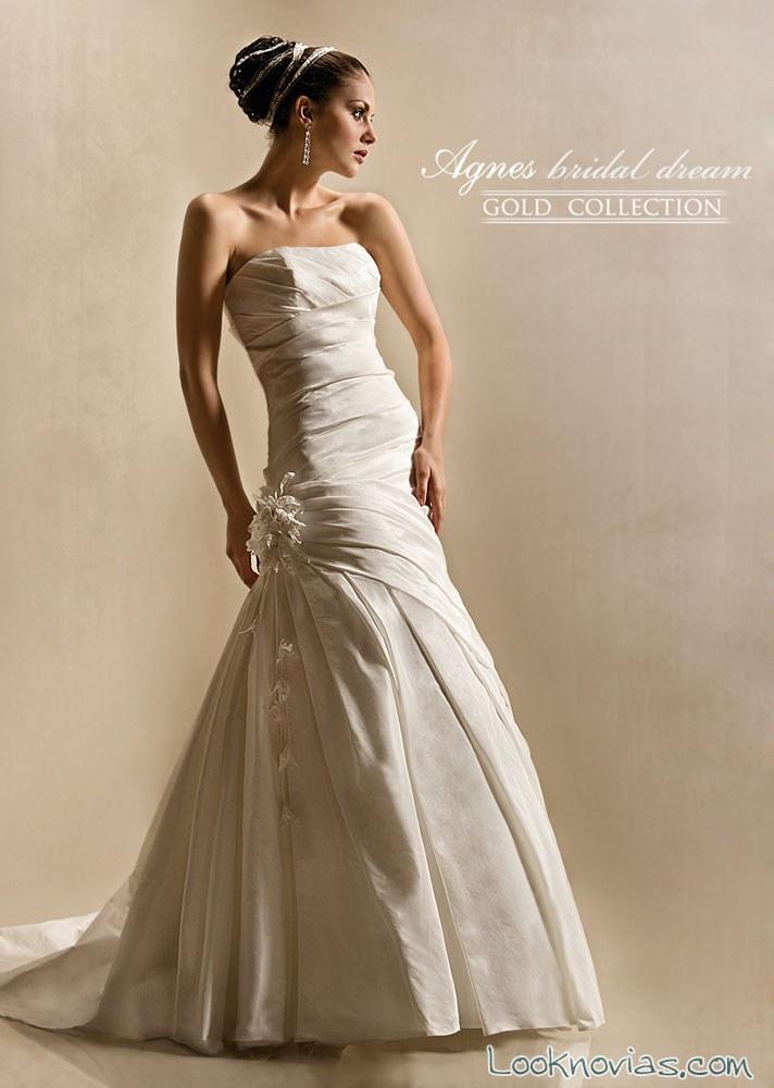 vestido palabra de honor agnes bridal