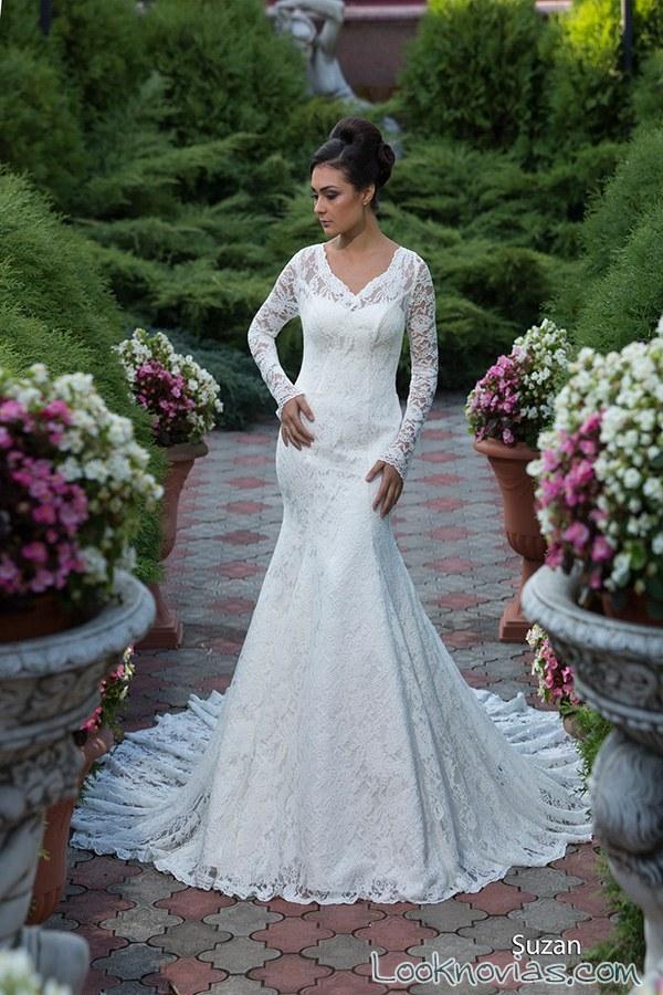 vestido para novia con mangas Richard Sherman