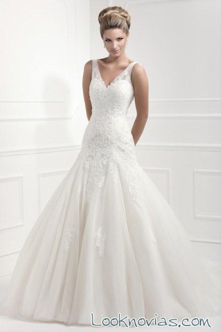 vestido para novia de tirantes ellis bridal