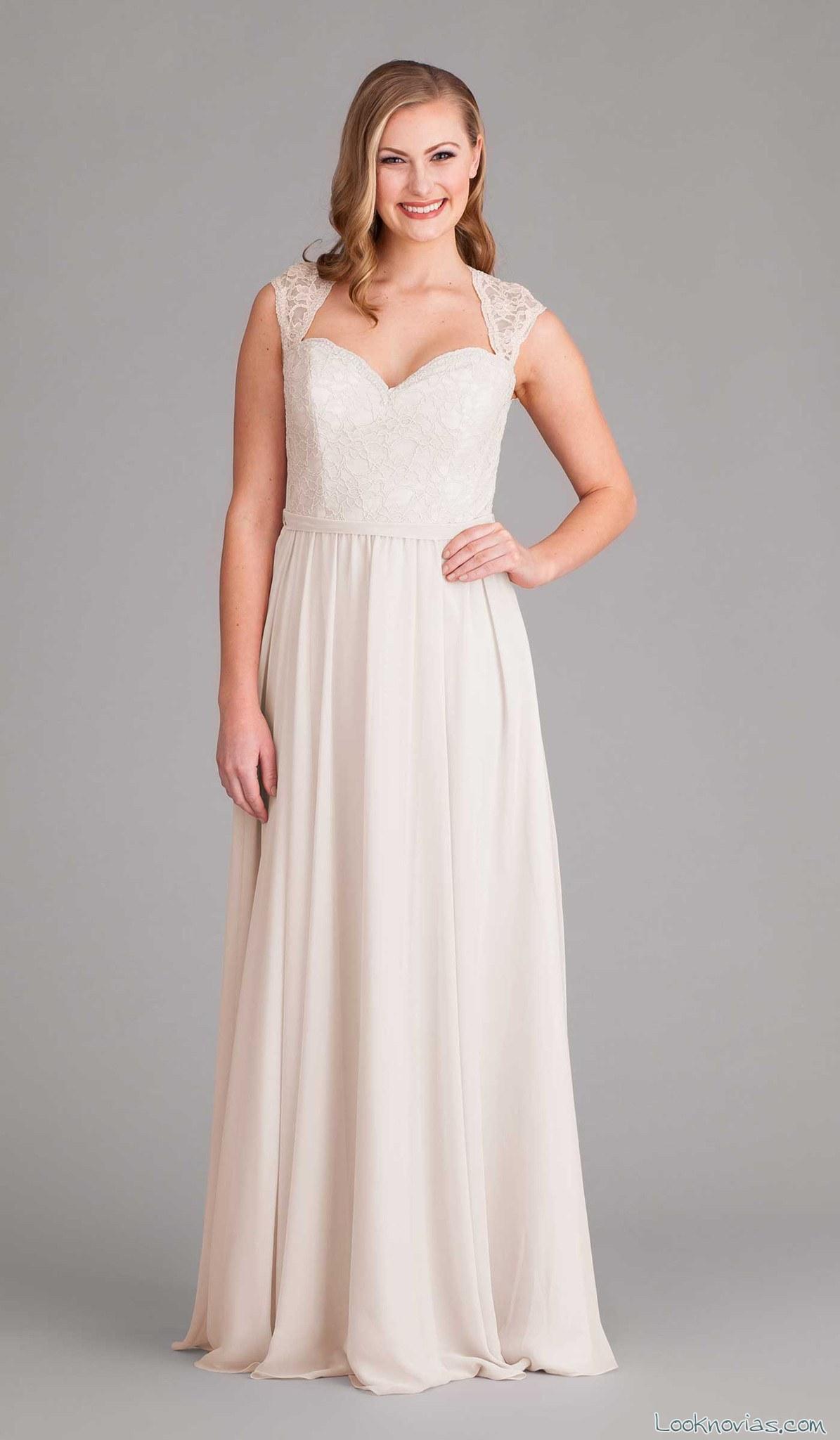 vestido para novias con tejidos sencillos
