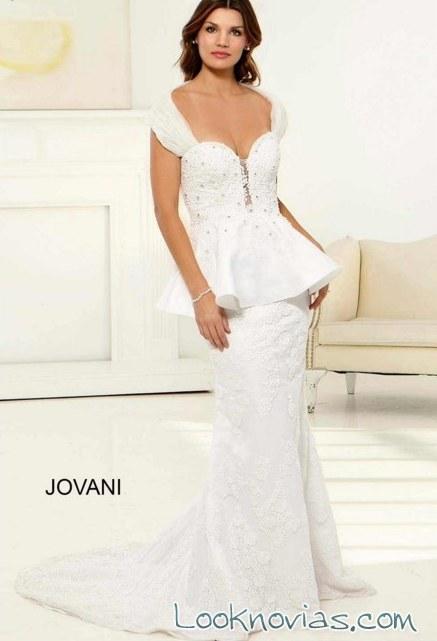 vestido peplo de novia jovani