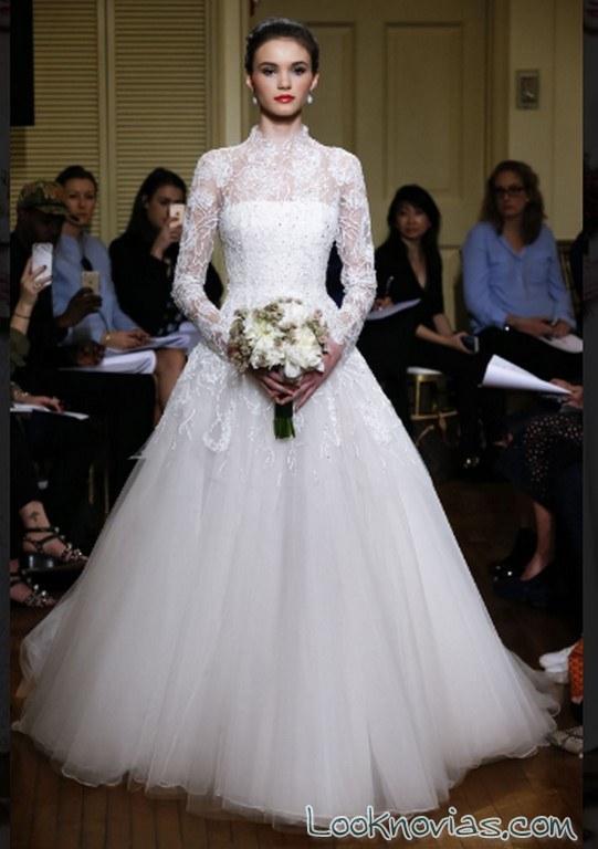 vestido peter langner 2017 con mangas