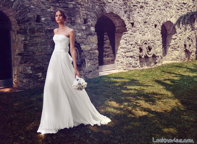 vestido plisado de novia giuseppe papini