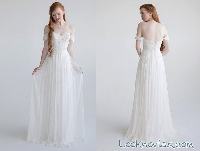 vestido plisado de tul aria