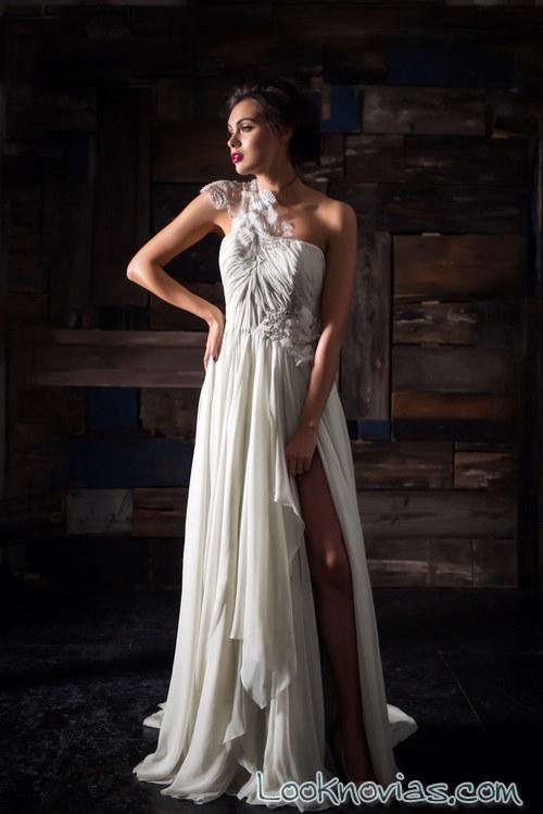 vestido plisado novias carol hannah