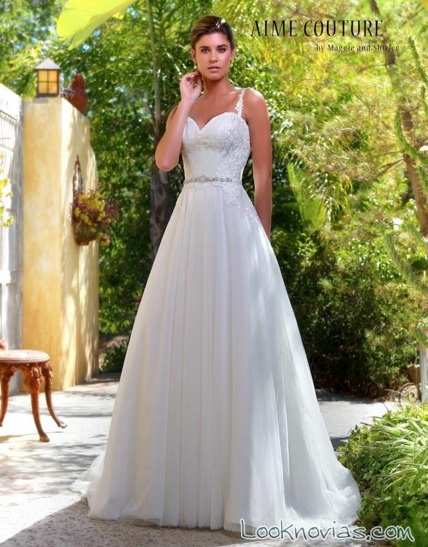 vestido plisado volumen novias maggie shirley