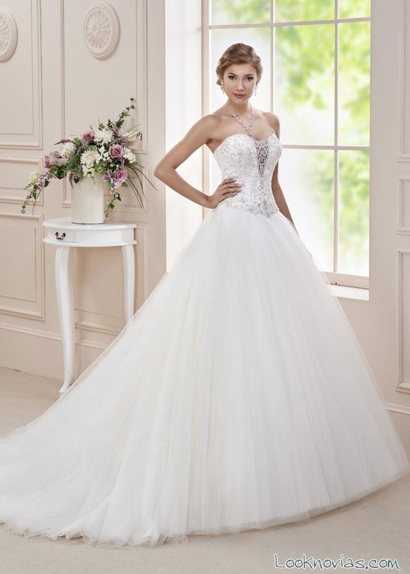 vestido princesa affezione 2016 con pedrería
