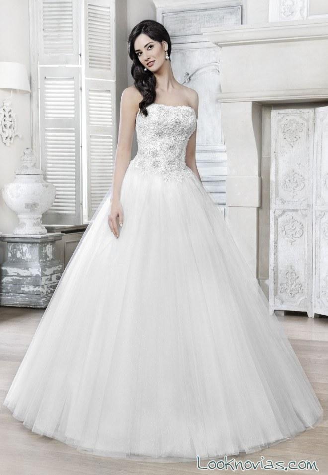 vestido princesa agnes bridal 2017