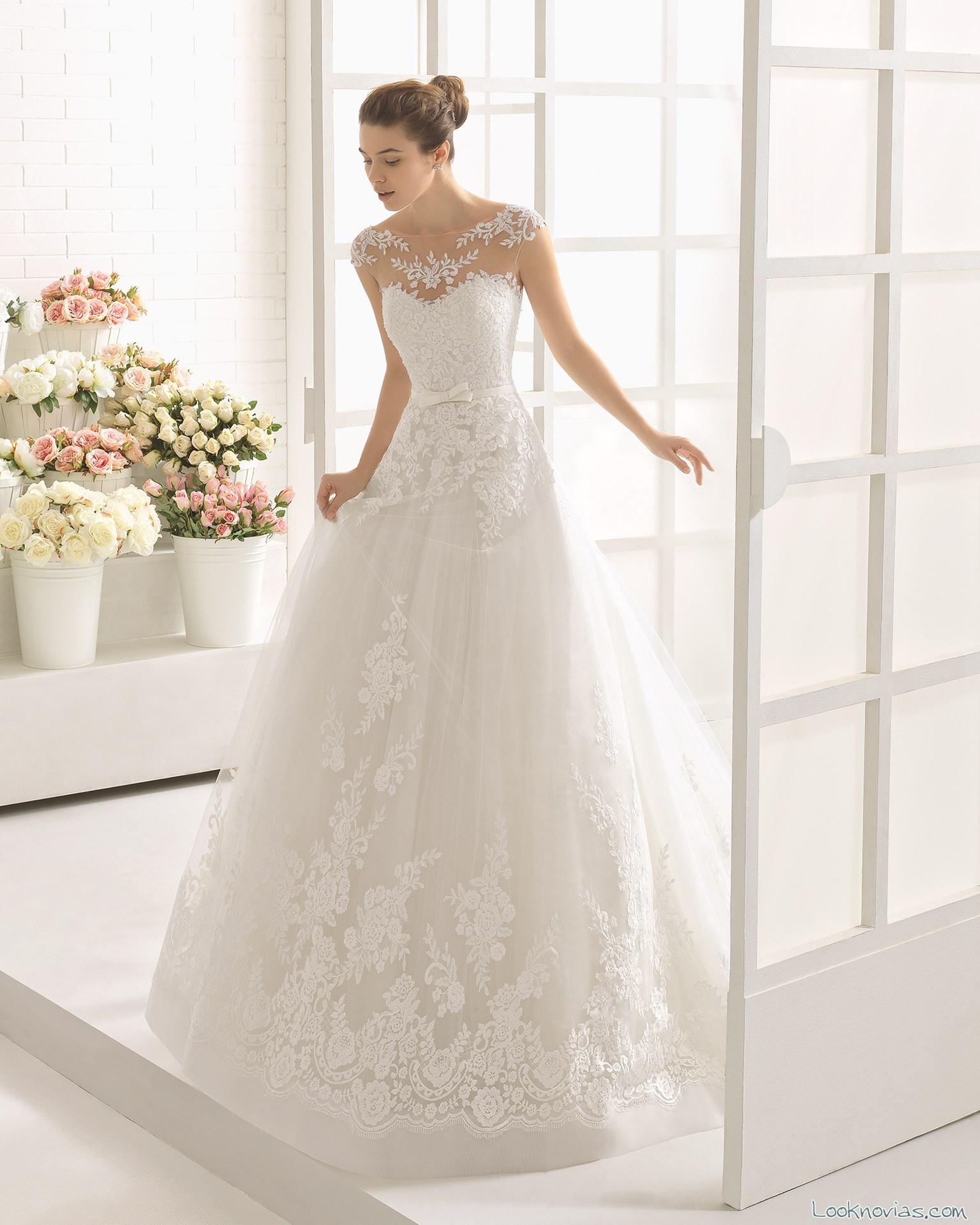 vestido princesa aire barcelona blanco