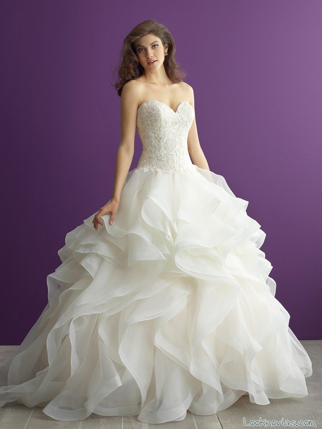 vestido princesa allure bridal romántico