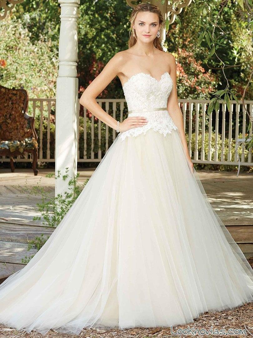 vestido princesa casablanca bridal 2017