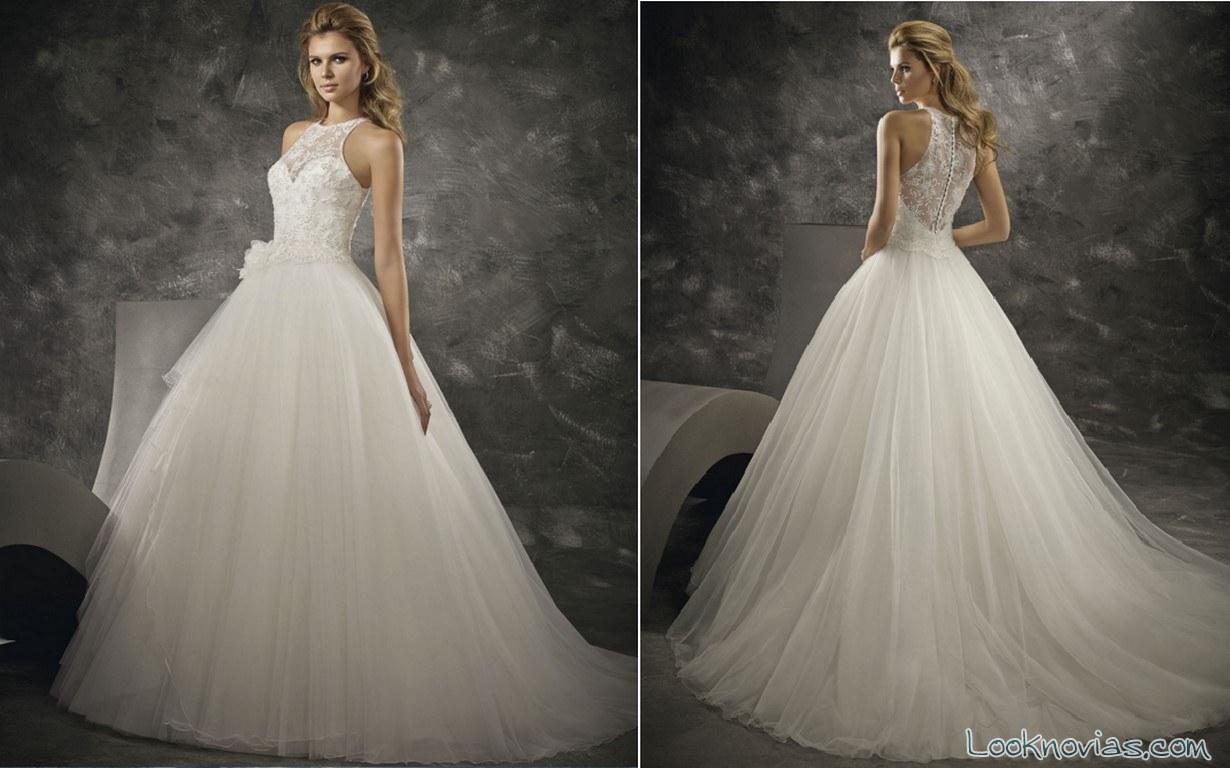 vestido princesa con escote en espalda divina sposa