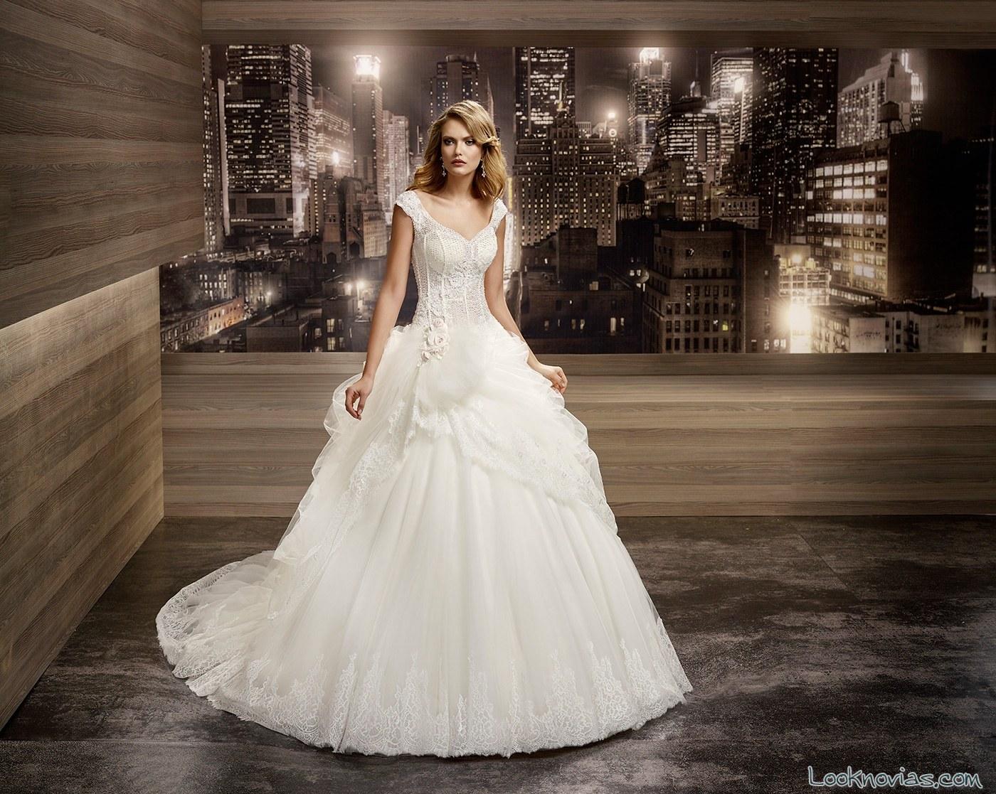 vestido princesa con tirantes de nicole spose
