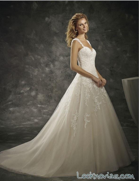 vestido princesa con tirantes divina sposa