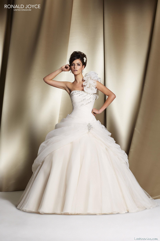 vestido princesa de gasa por ronald joyce