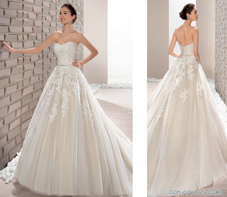vestido princesa demetrios combinado en color