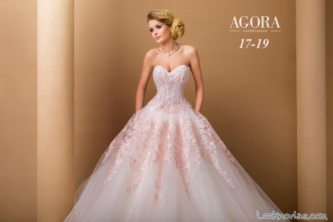 vestido princesa en rosa novias 2018