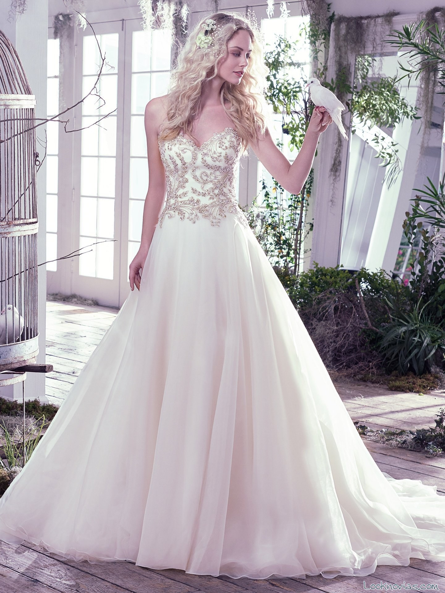 vestido princesa novia maggie sottero