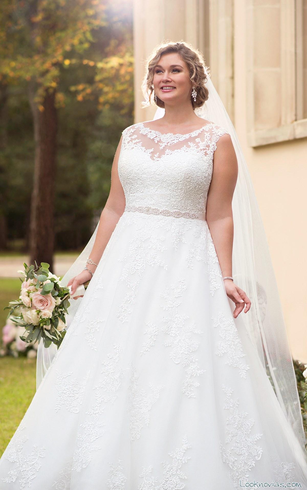 vestido princesa novias elegantes