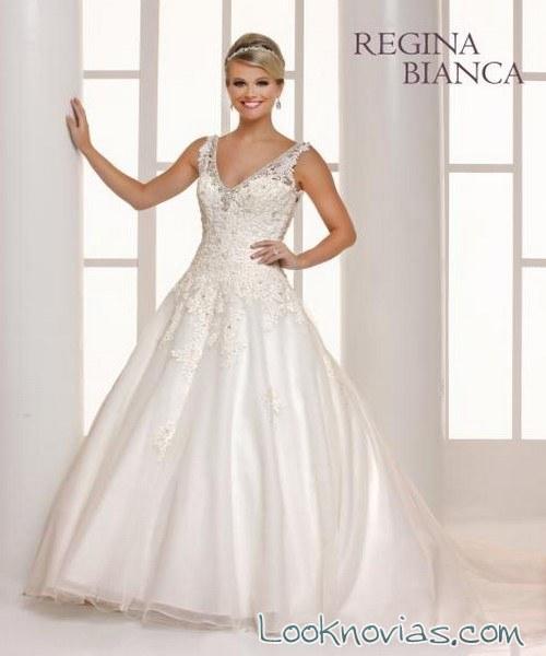 vestido princesa novias regina bianca
