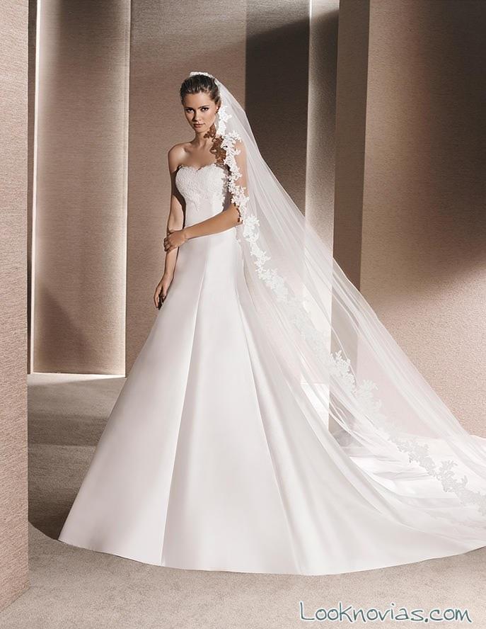 vestido princesa palabra de honor la sposa