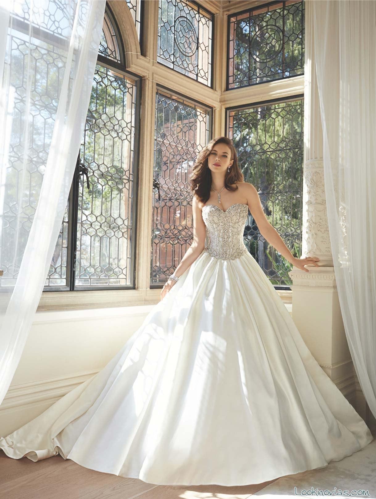 vestido princesa romántico de sophia tolli