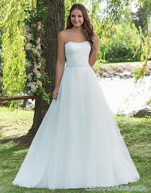 vestido princesa sweethear strapless