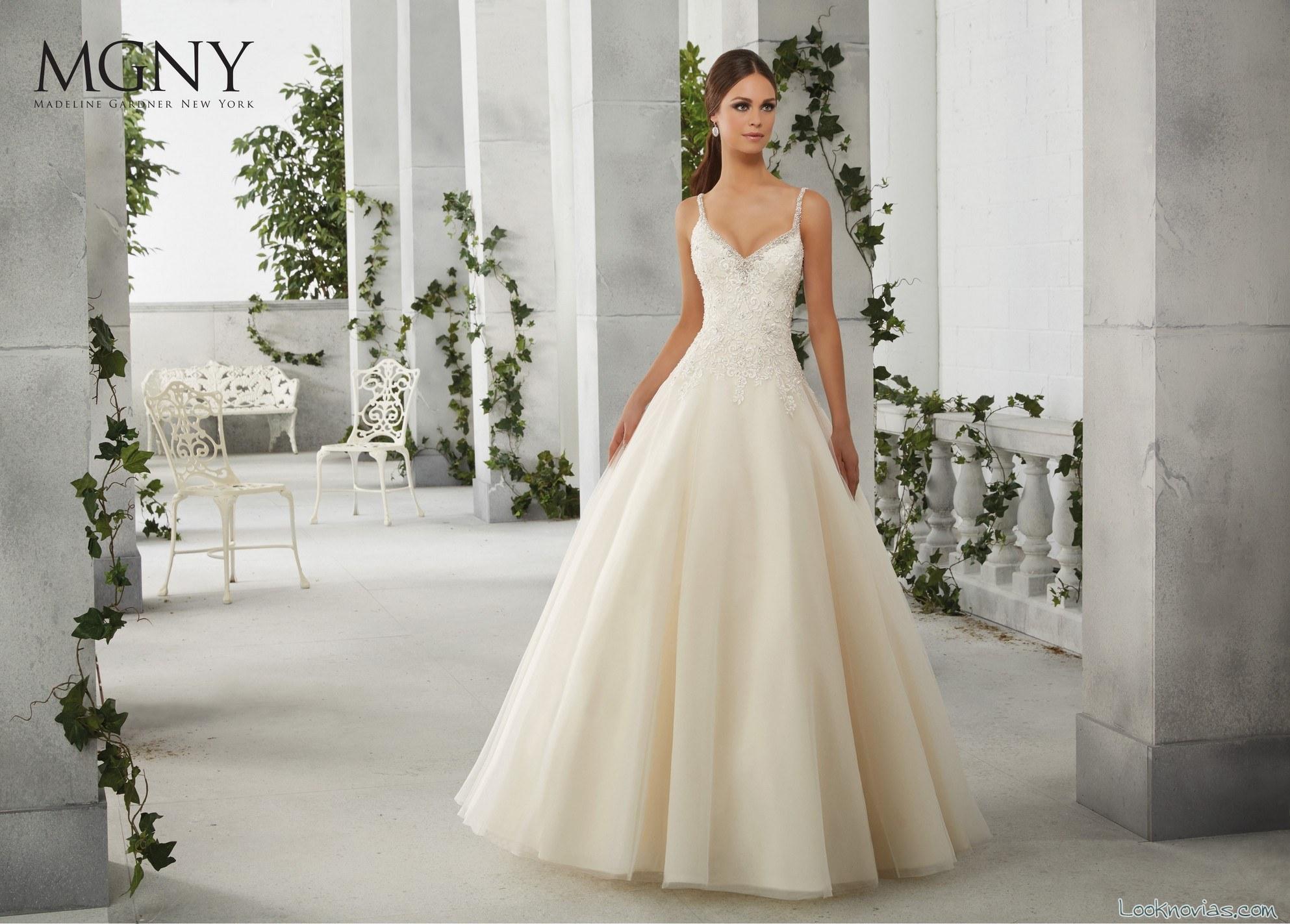 vestido princesa volumen novias