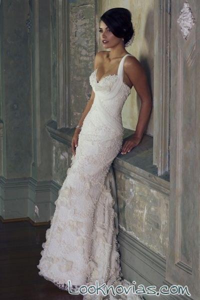 vestido recto blanco de connie simonetti