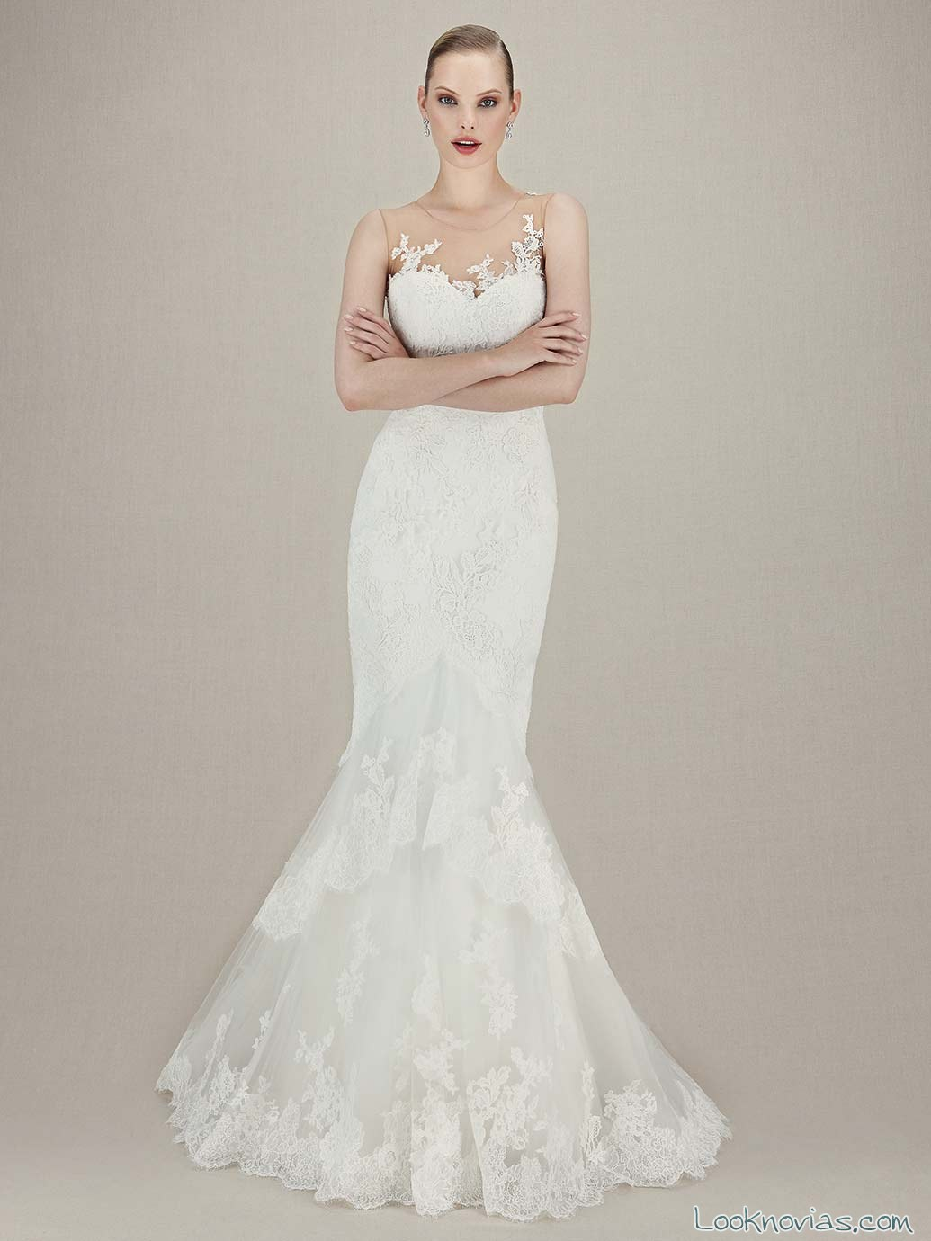 vestido recto blanco enzoani 2016