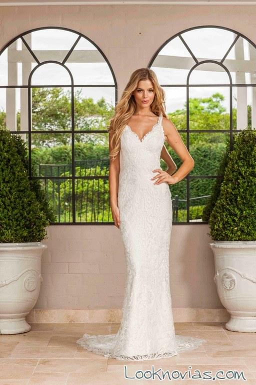 vestido recto blanco novias lisa gowing