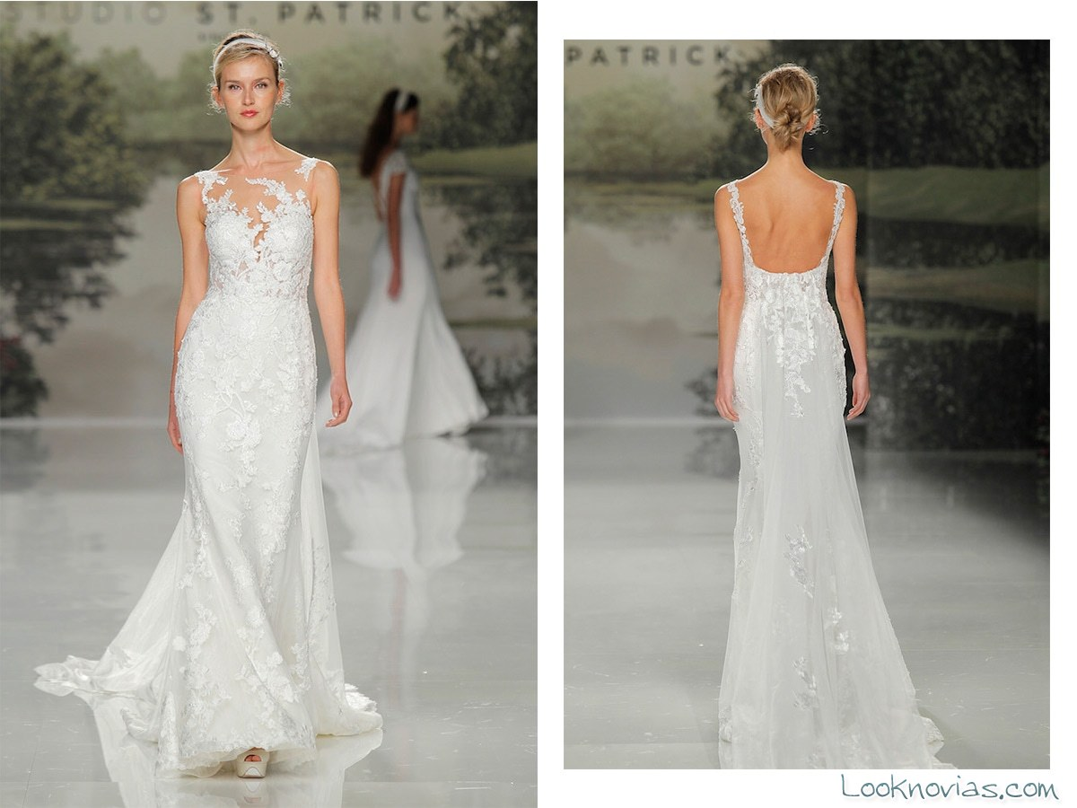 vestido recto blanco novias san patrick