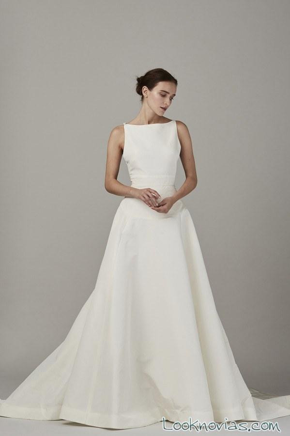 vestido recto blanco sencillo lela rose