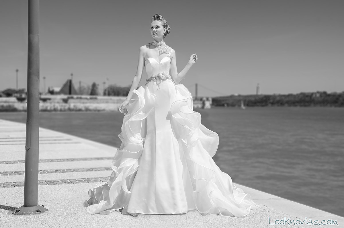 vestido recto con capa maria karin