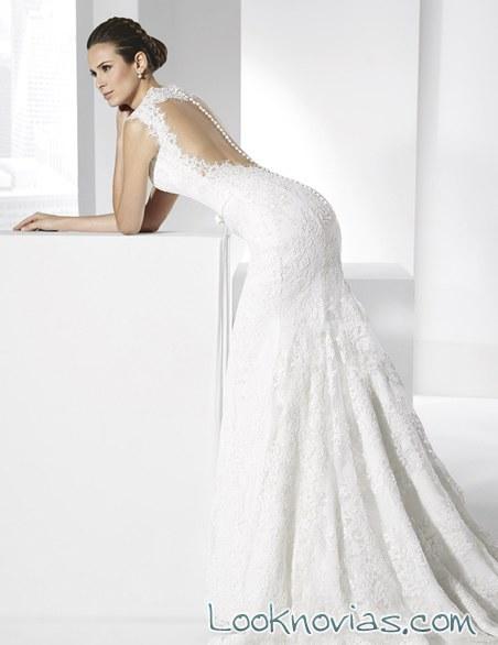 vestido recto con escote espalda manu alvarez