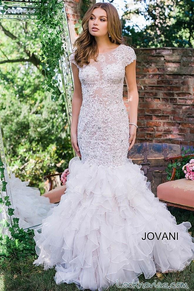 vestido recto corte sirena jovani