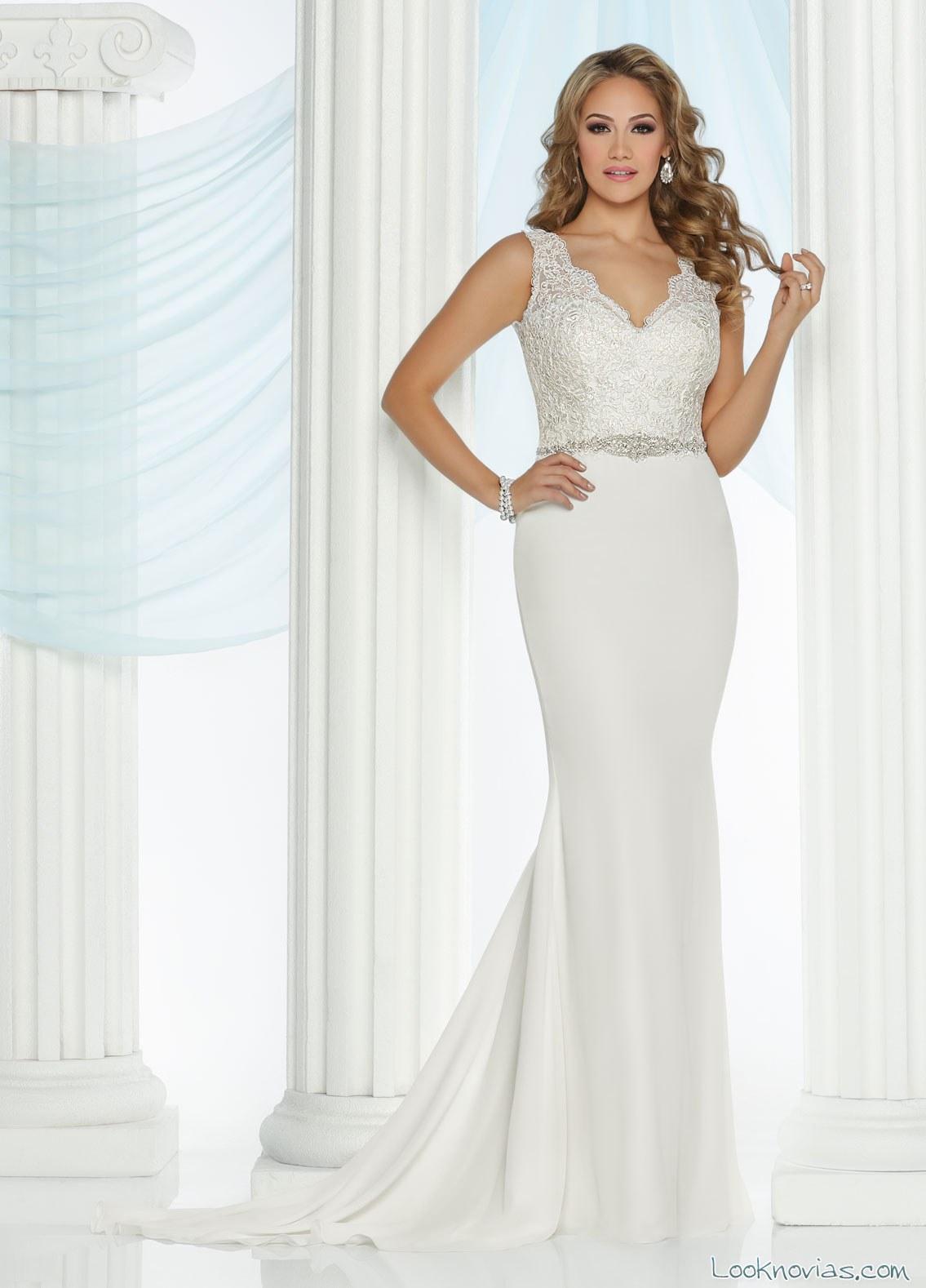 vestido recto da vinci bridal 2017