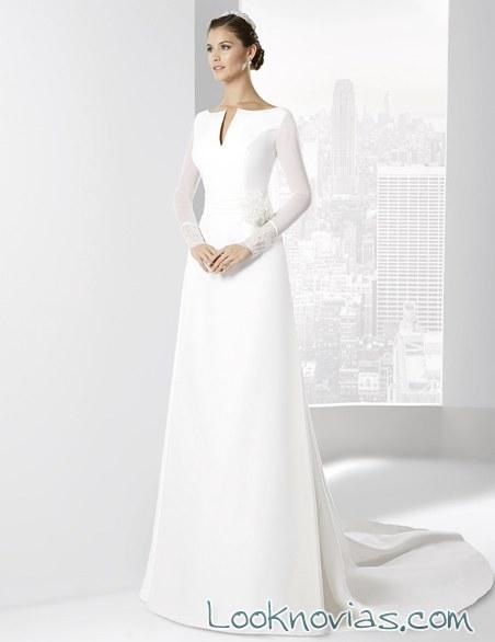 vestido recto de corte minimalista manu álvarez