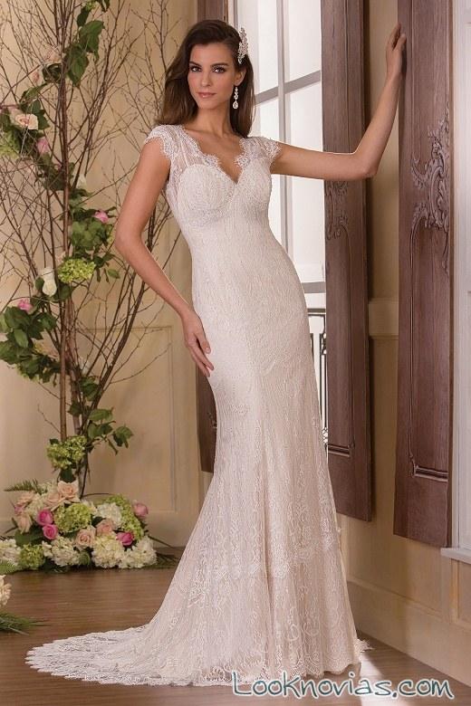 vestido recto de gasa novias jasmine