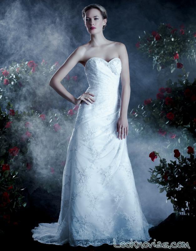 vestido recto de novia anjolique