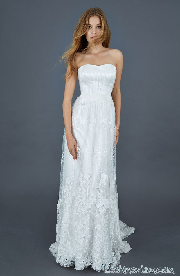 vestido recto de novia atelier eme