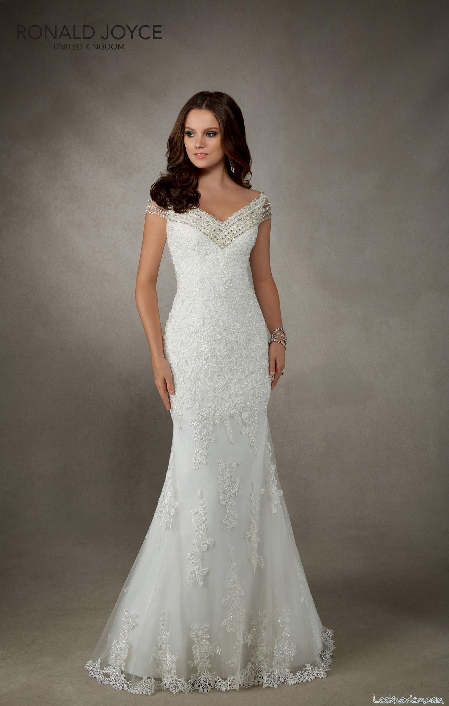 vestido recto de novia en color blanco
