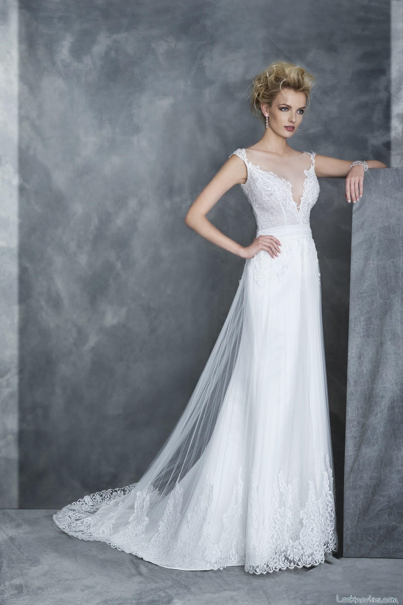 vestido recto de novia graziana valentini