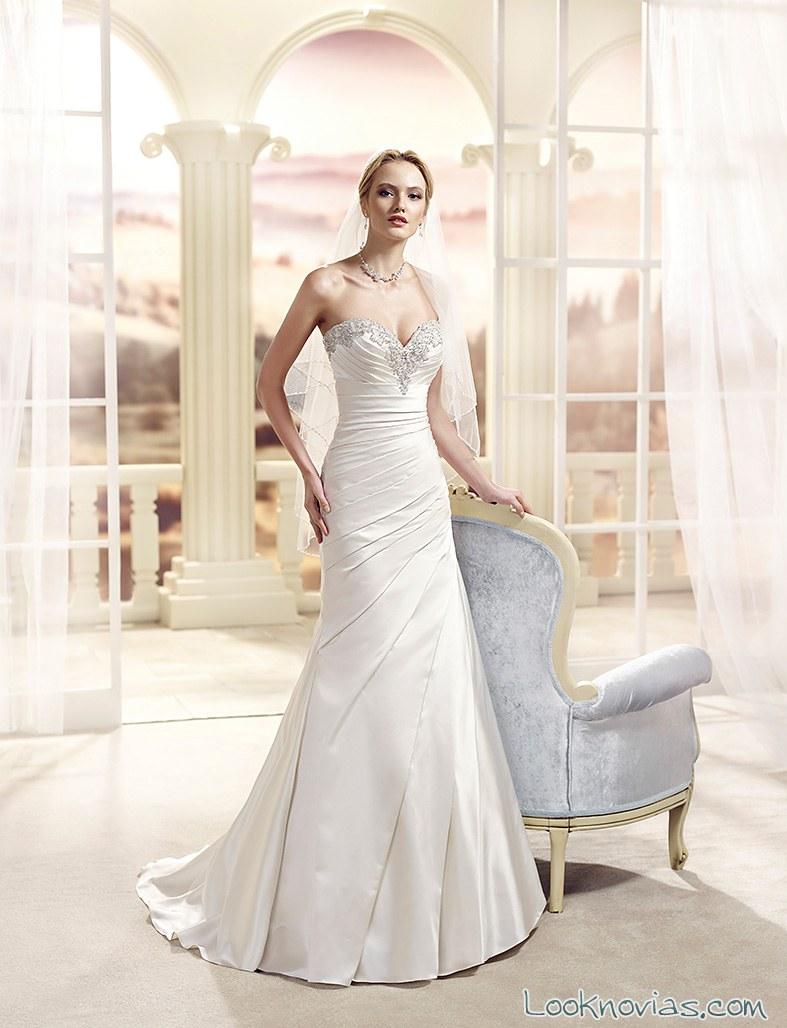 vestido recto de novia por eddy k